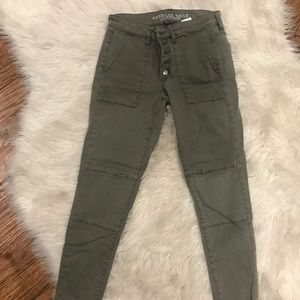Army Green Jeggings - Super Stretch